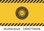 sad face icon black grunge... | Shutterstock .eps vector #1406776646