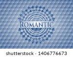 romantic blue emblem with... | Shutterstock .eps vector #1406776673