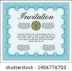 light blue retro invitation... | Shutterstock .eps vector #1406776703