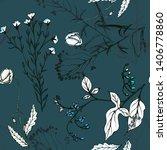 hand drawn vector seamless... | Shutterstock .eps vector #1406778860