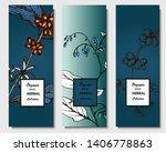 herbal illustration on label... | Shutterstock .eps vector #1406778863