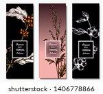 herbal illustration on label... | Shutterstock .eps vector #1406778866