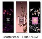 herbal illustration on label... | Shutterstock .eps vector #1406778869
