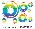happy love pride    rainbow... | Shutterstock .eps vector #1406779790
