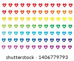 happy love pride    rainbow... | Shutterstock .eps vector #1406779793