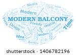 modern balcony word cloud.... | Shutterstock .eps vector #1406782196