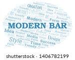 modern bar word cloud.... | Shutterstock .eps vector #1406782199