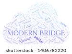 modern bridge word cloud.... | Shutterstock .eps vector #1406782220