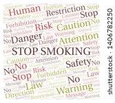 stop smoking word cloud.... | Shutterstock .eps vector #1406782250