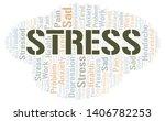 stress word cloud. wordcloud... | Shutterstock .eps vector #1406782253