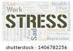 stress word cloud. wordcloud... | Shutterstock .eps vector #1406782256