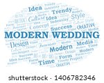 modern wedding word cloud.... | Shutterstock .eps vector #1406782346