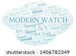 modern watch word cloud.... | Shutterstock .eps vector #1406782349