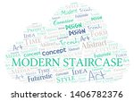 modern staircase word cloud.... | Shutterstock .eps vector #1406782376