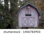 A Miniature Pink Home Mailbox