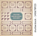 vintage frames  corners and... | Shutterstock .eps vector #140678923
