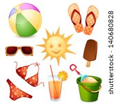 summer elements isolated on... | Shutterstock .eps vector #140680828