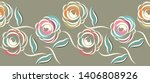 seamless abstract rose flower... | Shutterstock .eps vector #1406808926