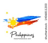 illustration of philippines...   Shutterstock . vector #1406811203