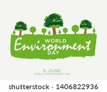 world environment day poster or ... | Shutterstock . vector #1406822936