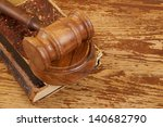 judge's gavel and very old