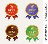 gold badge color full label... | Shutterstock .eps vector #1406828210