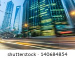 the light trails on the modern... | Shutterstock . vector #140684854