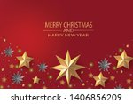 merry christmas and happy new... | Shutterstock .eps vector #1406856209