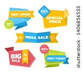 collection of sale discount... | Shutterstock .eps vector #1406856533