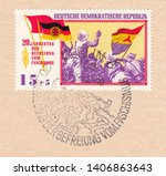 germany circa 1965 a stamp... | Shutterstock . vector #1406863643