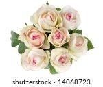 flower rose bouquet on white... | Shutterstock . vector #14068723