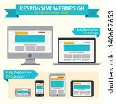 responsive web design   flat... | Shutterstock .eps vector #140687653
