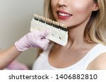 white teeth and beautiful smile ... | Shutterstock . vector #1406882810