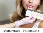 white teeth and beautiful smile ... | Shutterstock . vector #1406882816
