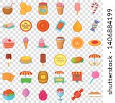 confectionery icons set.... | Shutterstock .eps vector #1406884199