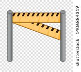 traffic barrier icon. cartoon... | Shutterstock .eps vector #1406884319