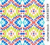 tibetan fabric. repeat tie dye... | Shutterstock . vector #1406930789