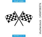 racing flag icon vector design... | Shutterstock .eps vector #1406938376