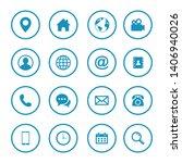 web icon set symbol. website...   Shutterstock .eps vector #1406940026