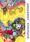 watercolor digital flower... | Shutterstock . vector #1406945069