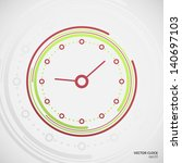 vector clock | Shutterstock .eps vector #140697103
