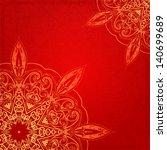 red vintage ethnic vector... | Shutterstock .eps vector #140699689