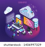 cloud services isometric... | Shutterstock .eps vector #1406997329