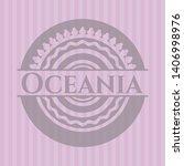 oceania retro style pink emblem....   Shutterstock .eps vector #1406998976