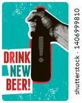 drink new beer  typographic...   Shutterstock .eps vector #1406999810