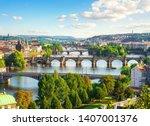 Row Of Bridges In Prague At...