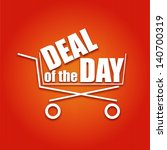 deal of the day poster with a... | Shutterstock .eps vector #140700319