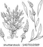 contour vector illustration... | Shutterstock .eps vector #1407010589