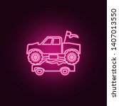 Stock photo bigfoot car crushes cars neon icon elements of bigfoot car set simple icon for websites web 1407013550