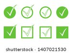 green check mark icon set...